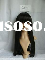 Long straight black wigs/top sale synthetic hair wigs(BSFW-2255)