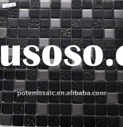 Plating glass mosaic tile for wall decorative S623-24S