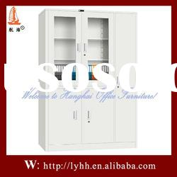 Practical&Environmental steel office furniture file cabinet with glass door
