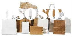 Recycled packaging paper bag with handles