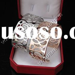 Rose 316L stainless steel bangle
