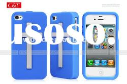 Silicone case for Apple iPhone 4S mobile phone accessories