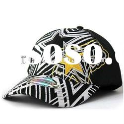 Small MOQ Fashion embroidery and print baseball caps