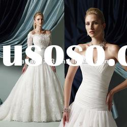Sweetheart Jacket Appliqued Lace Ball Gown Elegant Wedding Dress