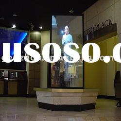 Transparent holographic projection film for window shop dispay, rear projection screen film