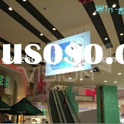 Transparent holographic screen film for window shop dispay, rear projection screen film