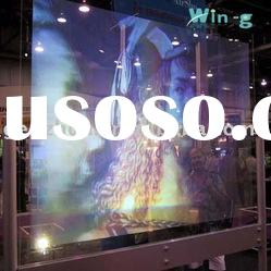 Transparent rear holographic film for window shop dispay, rear projection screen film