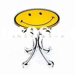 Unique Smiling face Acrylic children table,dining table