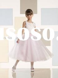 VF062 Beautiful newest style sleeveless tulle flower girl dress