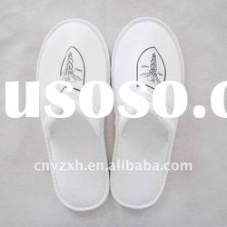 White close toe disposable hotel slippers indoor slippers