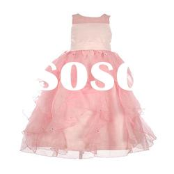 [SUPER DEAL] pink sleeveless baby girls dresses