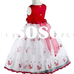[SUPER DEAL] white and red kids clothes and dress