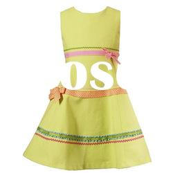 [SUPER DEAL] yellow sleeveless kids party wear dresses
