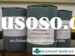 absorbent medical 100% cotton bleached hydrophilic gauze roll