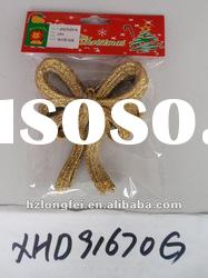 beautiful hanging gold bow new year decoration