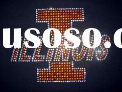 beautiful illinois rhinestone transfer design