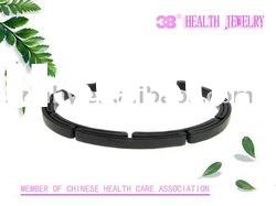 black fashion stainless steel bangle