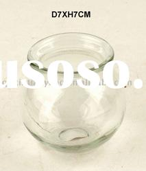 clear glass tea light candle holder&glass jar for home decoration