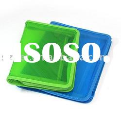 clear plastic document case with zipper made from PP material