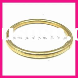 fashion 18k gold plated stainless steel bangle designs