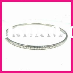 fashion stainless steel fancy hot girls latest thin bangle bracelets