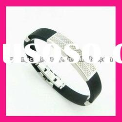 fashion stainless steel silver color bracelets mens bangle jewelry