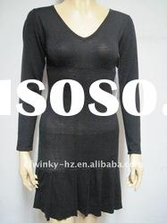 ladies v neck sweater dress