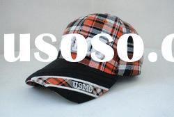 plaid caps and hats/party hats/PU caps and hats