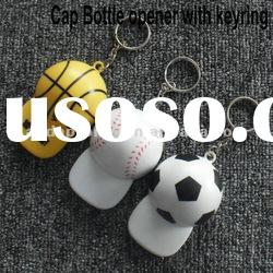 plastic cap bottle opener with keyring