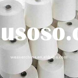 100% Spun Polyester Yarn For Sewing Thread 42/2 Raw White