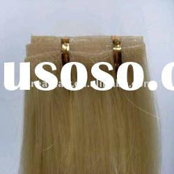 100% human hair hand tied Skin weft hair extension