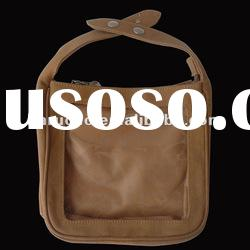 Brown Canvas Tote bag with Clear pvc window