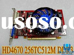 Graphic Card HD 4670 HD4670 DDR3 512MB 128BIT PCI-E Video VGA Card Spike 9800 9600 GT240 GAMES