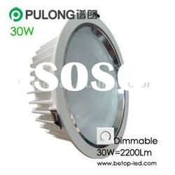 High Luminous 2200Lm 30W dimmable LED downlight