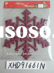 beautiful hanging glitter snowflake new year decoration