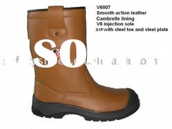 genuine leather safety high boot