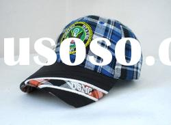 plaid hats and caps/party hats/PU caps and hats