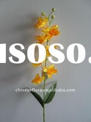yellow fabric artificial orchid flower with suit