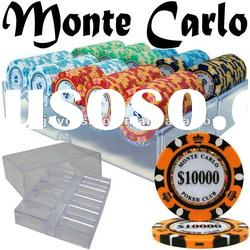 200ct Monte Carlo Poker Chips in 200 ct Acrylic Tray