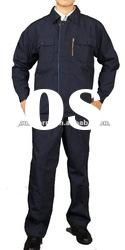 2012style! Dark blue long sleeve T/C6535 Working clothes/Corporate industrial uniform