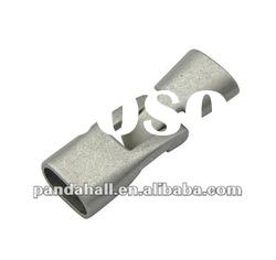 Alloy Hook Clasps, Jewelry Findings, Platinum Color, clasps: 12x36x7mm, hole: 5x10mm(PALLOY-H223-P)