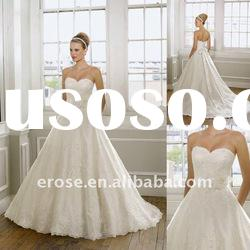 Ball Gown Princess Strapless Wedding Dress With Lace ML-A012