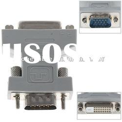 High Performance DVI 24+1 Pin Female to VGA 15 Pin Male F/M Adapter Converter