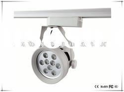 Most popular 9w aluminum silver led track light