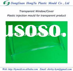 Plastic injection molding for transparent product