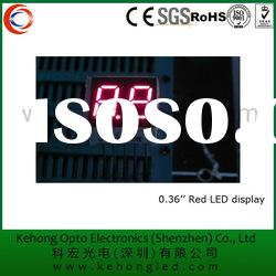 Rohs Approval Super bright 2 digits Red 7 Segment LED display