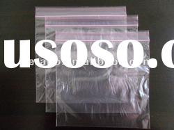 clear plastic ldpe zipper lock bag with color