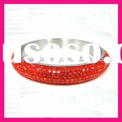 fashion red crystal stone bangles bracelet high end cz jewelry