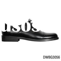 high quality men dress leather shoes black color
