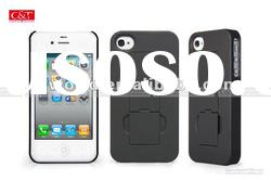 rubber stand case for Apple iPhone 4S mobile phone accessories